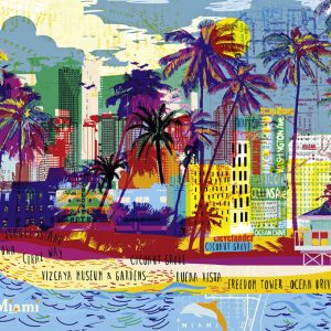 City Life - I Love Miami 1000 Piece Heye Puzzle