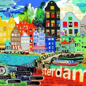City Life - I Love Amsterdam 1000 Piece Heye Puzzle
