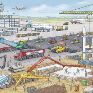 Construction Site at the Airport 100 Piece Airport