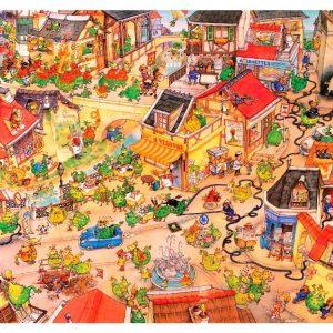 Degano - Dragontown 1000 Piece Heye Puzzle