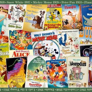 Disney Vintage Movie Posters 1000 Piece Jigsaw Puzzle
