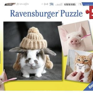 Funny Animal Portraits 3 x 49 Piece Ravensburger Puzzle
