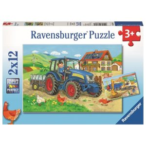 Hard at Work 2 x 12 Piece Ravensburger Puzzle