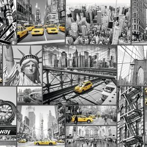 New York Cabs 1500 Piece Puzzle - Ravensburger