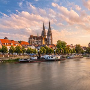 Old Town Regensburg 1000 Piece Jigsaw Puzzle