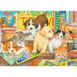Pets on Tour 500 Large Piece Format Puzzle - Ravensburger