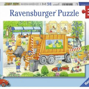 Street Cleaning Underway 2 x 12 Piece Ravensburger Puzzle