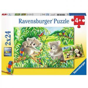 Sweet Koalas & Pandas 2 x 24 Piece Ravensburger Puzzles
