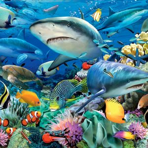 The Reef of the Sharks 100 Piece Ravensburger Puzzle