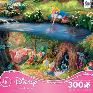 Thomas Kinkade Disney - Alice in Wonderland - 300 Large