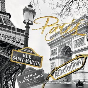Touch of Gold - Golden Paris 1200 Piece Puzzle