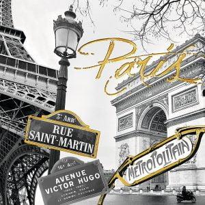 Touch of Gold - Golden Paris 1200 Piece Puzzle