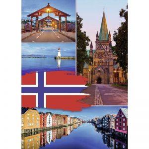 Trondheim Collage 1000 Piece Ravensburger Puzzle