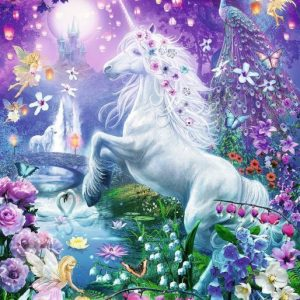 Unicorn in the Glittery forest 500 Piece Puzzle - Ravensburger