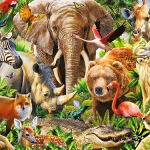 African Wildlife 1000 Piece Panoramic Jigsaw Puzzle