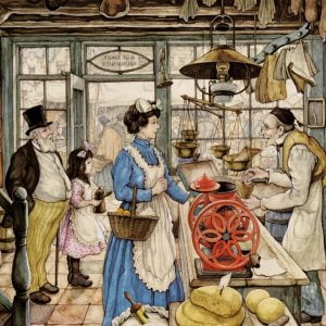 Anton Pieck - The Grocer 500 XL Piece Jigsaw Puzzle