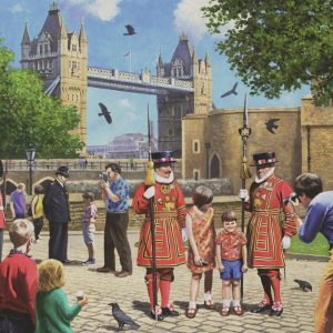 Beefeaters at the Tower 1000 Piece Jigsaw Puzzle