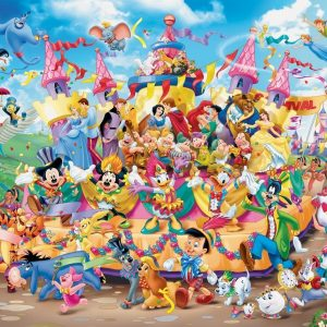 Disney Carnival Characters 1000 Piece Jigsaw Puzzle - Ravensburger