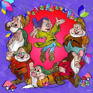 Disney - the Seven Dwarfs 500 Piece Square Jigsaw Puzzle - Ravensburger