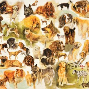 Dogs Poster 1000 Piece Jigsaw Puzzle by Jumbo