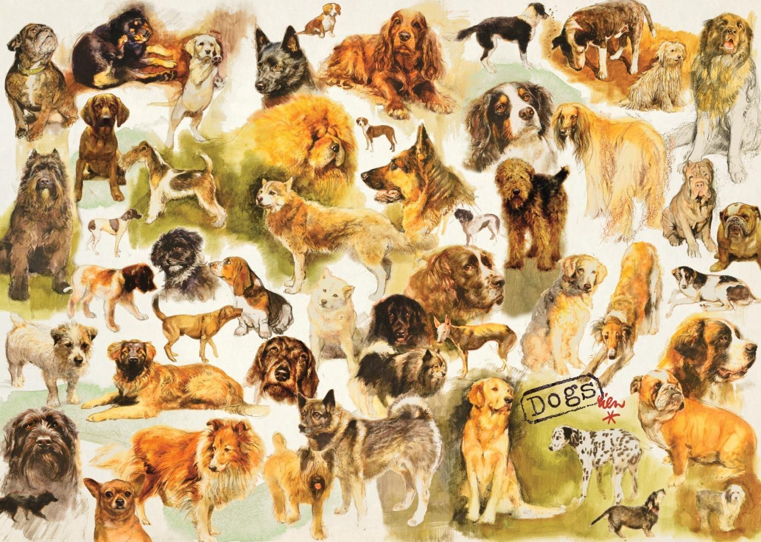 JIGSAW PUZZLE BY JUMBO DOGS POSTER