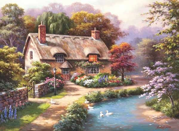 Duck Path Cottage 1000 Piece Jigsaw Puzzle