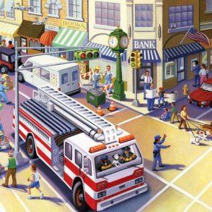 Fire Truck 20 Piece Jigsaw Puzzle - eeboo