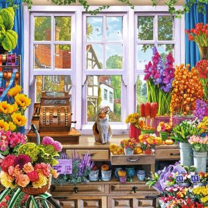 Flora's Flower Shoppe 1000 Piece Jigsaw Puzzle