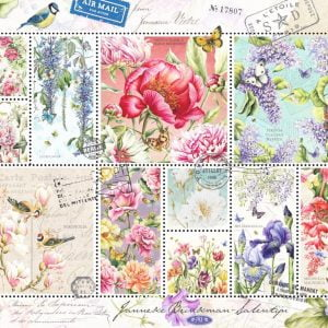 Flower Stamps 1000 Piece Jumbo Jigsaw Puzzle