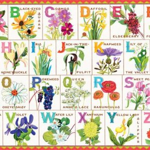Flowers of the alphabet 100 Piece Jigsaw Puzzle - eeBoo