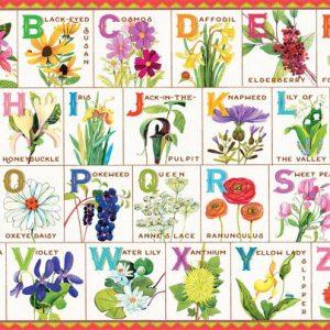 Flowers of the alphabet 100 Piece Jigsaw Puzzle - eeBoo