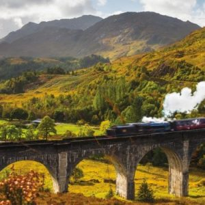Glenfinnan Railway 1000 Piece Panoramic Puzzle by Jumbo
