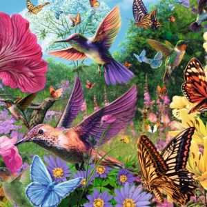 Hummingbirds 500 Extra Large Piece Jigsaw Puzzle