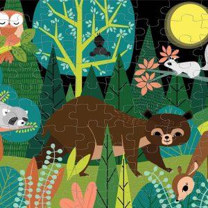 In the Forest 100 Piece Glow in the Dark Puzzle - Mudpuppy