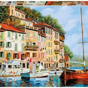 La barca Rossa Alla Calata Guido Borelli 2000 Piece Puzzle
