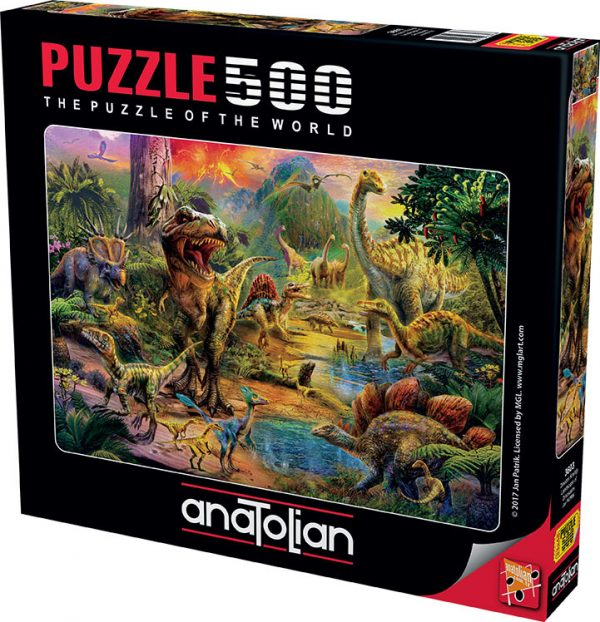 Landscape of Dinosaurs 500 Piece Jigsaw Puzzle
