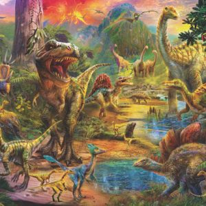 Landscape of Dinosaurs 500 Piece Jigsaw Puzzle