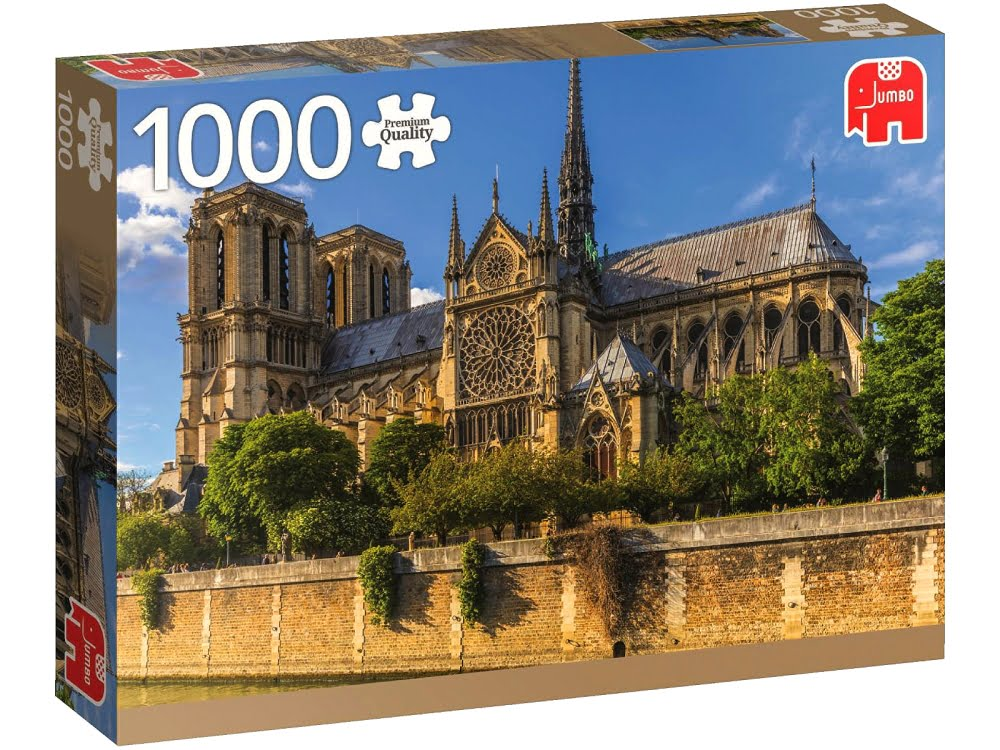 jigsaw puzzle notre dame paris 1000 piece by jumbo. Black Bedroom Furniture Sets. Home Design Ideas