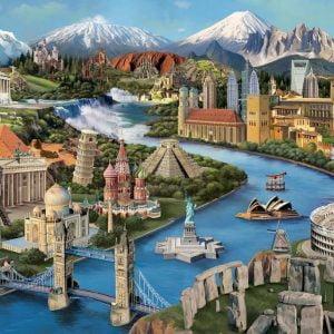 Popular Landmarks 2000 Piece Jigsaw Puzzle