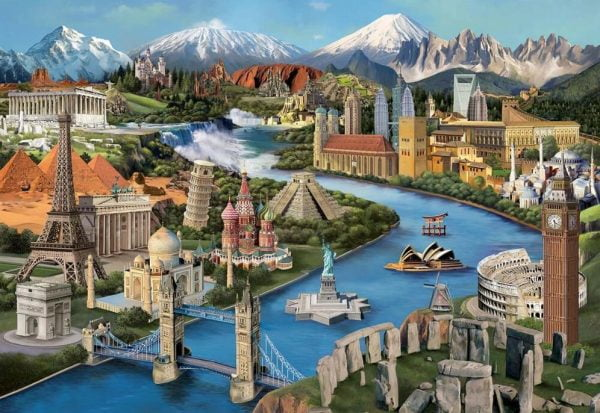 Popular Landmarks 2000 Piece Jigsaw Puzzle