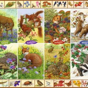 Seasonal Wildlife 1000 Piece Jigsaw Puzzle