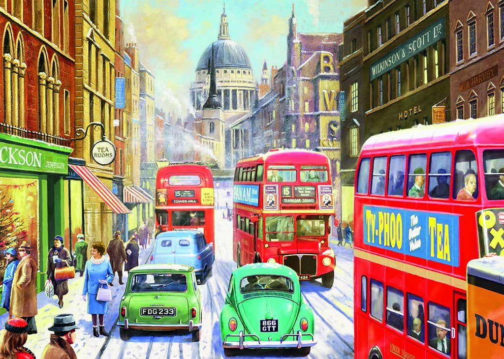 Snow In London City 1000 Piece Jigsaw Puzzle