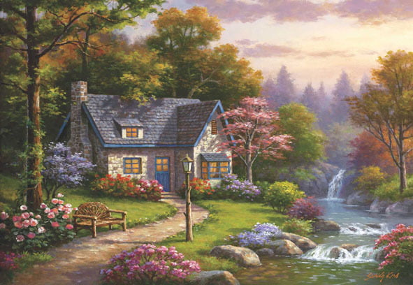 Stonybrook Falls Cottage 2000 Piece Jigsaw Puzzle - Anatolian