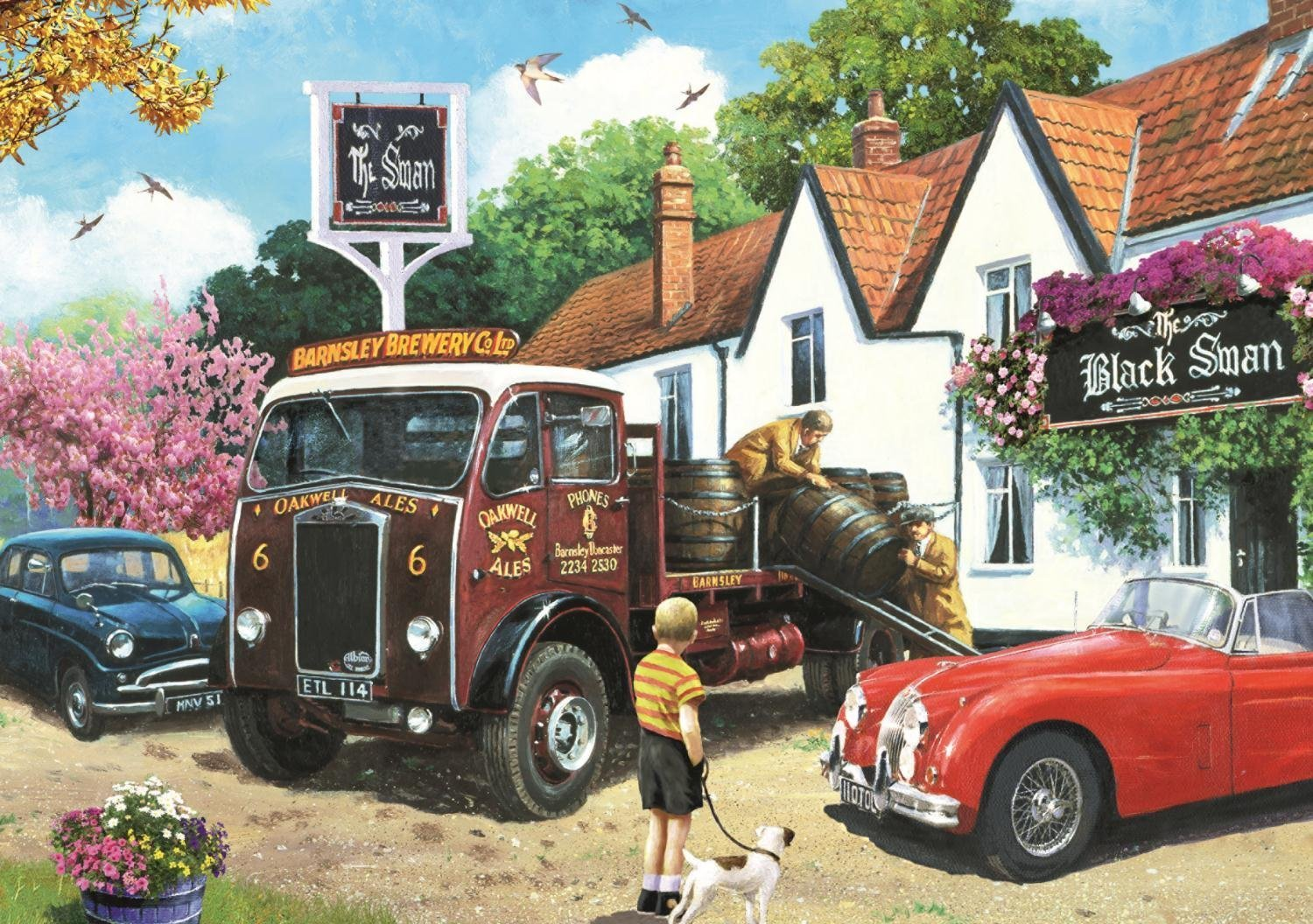 Box Shaped Cars >> JIGSAW PUZZLE - THE DELIVERY ROUND 500 PIECE (JUM11176)