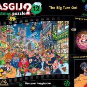 Wasgij Christmas 12 - TGhe Big turn On 1000 Piece Jigsaw Puzzle
