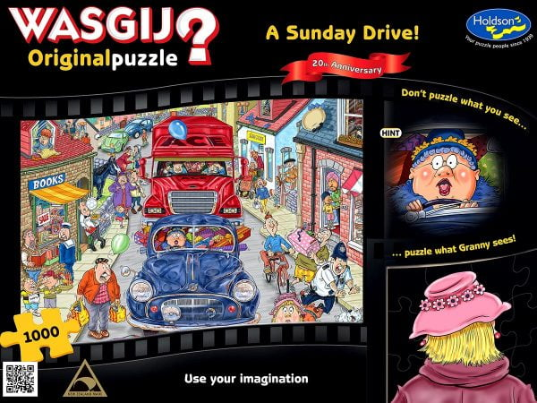 Wasgij Original - A Sunday Drive 1000 Piece Jigsaw Puzzle