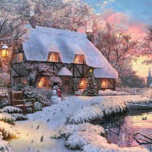 Winter Cottage 1500 Piece Jigsaw Puzzle - Jumbo