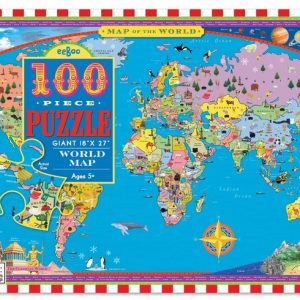 World Map 100 Piece Jigsaw Puzzle - eeBoo