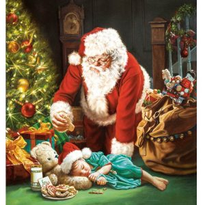 A Cookie for Santa 1000 Piece Jigsaw Puzzle