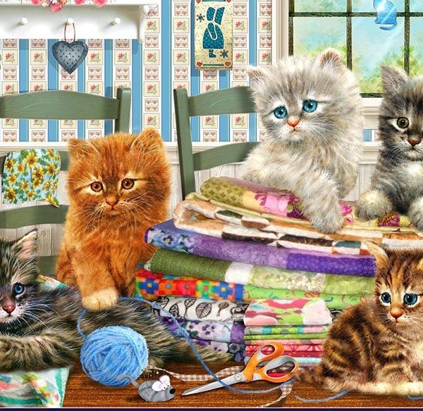 ADORABLES - Kitten Capers 300 Extra Large Piece Jigsaw Puzzle